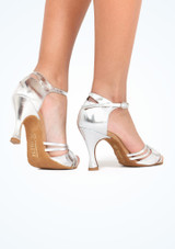 Zapatos de Baile Elite Bella Rummos 7,6cm Plata #5. [Plata]