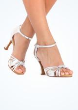 Zapatos de Baile Elite Bella Rummos 7,6cm Plata #4. [Plata]