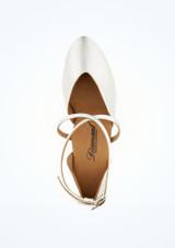 Zapatos salon Geri Diamant 4,2cm Blanco #2. [Blanco]