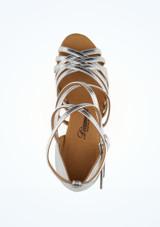 Zapato de latino y salsa Rina Diamant 6,3cm Plata #2. [Plata]