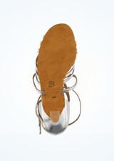 Zapato de latino y salsa Rina Diamant 6,3cm Plata #3. [Plata]