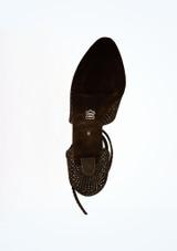 Zapatos de salon brillantes 5 cm Diamant Negro suela. [Negro]
