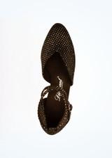 Zapatos de salon brillantes 5 cm Diamant Negro superior. [Negro]