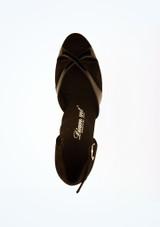 Zapatos de salon de charol con horma ancha 4,3 cm Diamant Negro superior. [Negro]