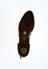 Zapatos de salon de charol con horma ancha 4,3 cm Diamant Negro suela. [Negro]