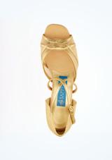 Zapato Gold para bailes salon y latino 3,8 cm Ray Rose Oro superior. [Oro]