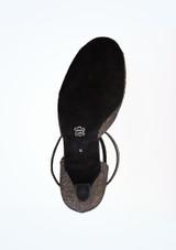 Zapato de baile Shimmer de 6.5 cm Diamant Negro-Oro suela. [Negro-Oro]