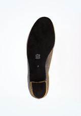 Zapato de baile Shine de 4 cm Diamant Negro-Oro suela. [Negro-Oro]