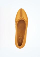 Zapato Ion de salon de raso 5 cm Ray Rose Marrón superior. [Marrón]