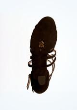 Zapatos de danza Eva de ante 5.6 cm Werner Kern Negro suela. [Negro]