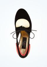 Zapatos de baile Talia Nueva Epoca de 7.62 cm Negro-Rojo superior. [Negro-Rojo]