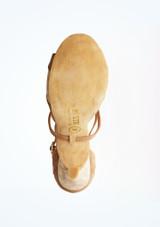 Zapatos de baile Margot Rummos de 7,6 cm Marrón suela. [Marrón]
