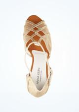Zapato de baile Aria de Anna Kern de 7.62 cm Oro superior. [Oro]