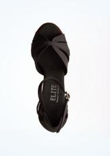 Zapatos de Baile Poppy Rummos 7cm Negro-Rojo suela. [Negro-Rojo]