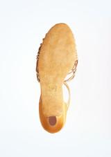 Zapato de baile Sabine de Anna Kern de 6 cm Bronce suela. [Bronce]