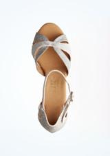 Zapatos de Baile Lila Rummos 6cm Plata superior. [Plata]