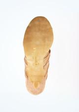 Zapatos de Baile Mera Rummos 7cm Marrón Claro suela. [Marrón Claro]