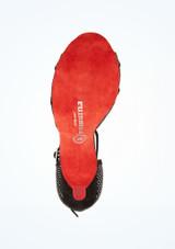 Zapatos de Baile Amara Rummos 6cm Negro suela. [Negro]
