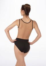 Maillot Ballet Recortado So Danca Negro #2. [Negro]