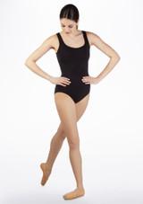 Maillot Ballet sin Mangas y Espalda Recortada So Danca Negro frontal. [Negro]