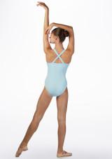 Maillot con tirantes anchos cruzados Ballet Rosa Azul trasera #2. [Azul]