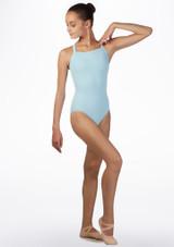 Maillot con tirantes anchos cruzados Ballet Rosa Azul frontal #2. [Azul]