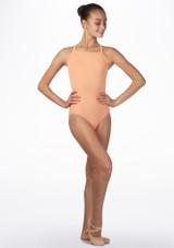 Maillot con tirantes anchos cruzados Ballet Rosa frontal. [Rosa]