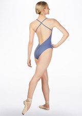 Maillot de tirantes Ballet Rosa Azul frontal. [Azul]