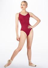Maillot de tirantes Ballet Rosa Rojo trasera. [Rojo]