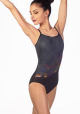 Maillot Shimmer floral Ballet Rosa Negro frontal. [Negro]