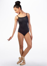 Maillot Shimmer geometrico Ballet Rosa Gris frontal. [Gris]