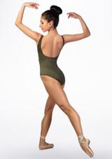 Maillot con estampado paisley Ballet Rosa Verde trasera. [Verde]