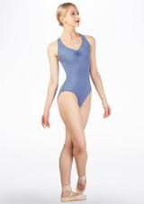 Maillot con bucle en la espalda Ballet Rosa Azul trasera. [Azul]