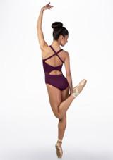 Maillot con bucle en la espalda Ballet Rosa Violeta trasera. [Violeta]