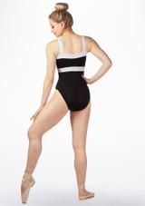 Maillot Ballet con Ribete de Contraste So Danca Negro-Blanco trasera. [Negro-Blanco]