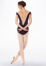 Maillot Ballet con Manga Corta y Cuello de Barca Grishko