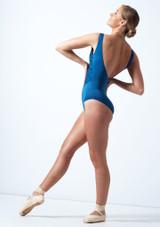 Maillot Ballet Bordado con Espalda Descubierta Ballet Rosa Azul  Detrás-1 [Azul ]