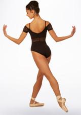 Maillot Ballet con Escote Barco Ariane So Danca Negro trasera. [Negro]