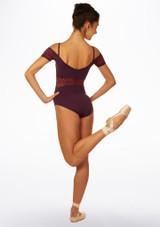 Maillot Ballet con Escote Barco Ariane So Danca Violeta trasera.