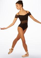 Maillot Ballet con Escote Barco Ariane So Danca Negro frontal. [Negro]