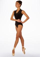 Maillot Ballet de Terciopelo sin Mangas Filippa So Danca Negro frontal. [Negro]
