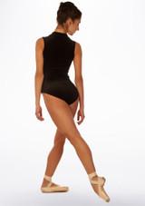 Maillot Ballet de Terciopelo sin Mangas Filippa So Danca Negro trasera. [Negro]