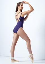 Maillot Ballet con Doble Tirante Cruzado So Danca Azul trasera. [Azul]