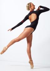 Maillot con cuello tortuga Move Dance Inspire Negro trasera. [Negro]