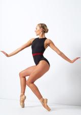 Maillot con espalda cruzada Move Dance Fearless Negro frontal. [Negro]