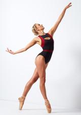 Maillot con apertura Move Dance Strength Rojo trasera #2. [Rojo]