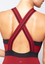 Maillot con cremallera delantera Move Dance Passion Rojo trasera #2. [Rojo]