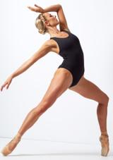 Maillot brasileno Move Dance Achieve Negro frontal. [Negro]