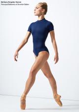 Maillot de encaje con mangas cortas  Iona Move Dance Azul frontal. [Azul]