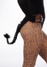 Rabo de gato de vinilo Negro. [Negro]